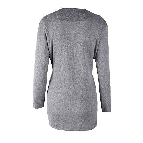 Pullover Donne Solid Inverno Maglione Autunno Cappotto Morwind Sportiva E Donna Giacche Lunga Lungo Manica Gray Casuali Tuta Outwear Casual wxHcAT