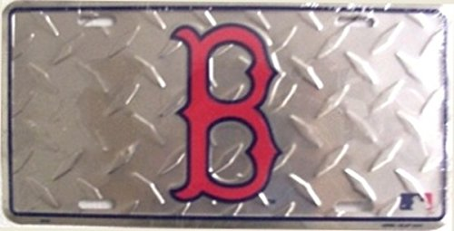 Boston Red Sox License Plate (Boston Red Sox Diamond License Plate)