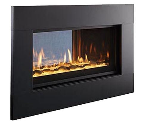 Outdoor Lifestyles Interior Black Front for Mezzanine Fireplace