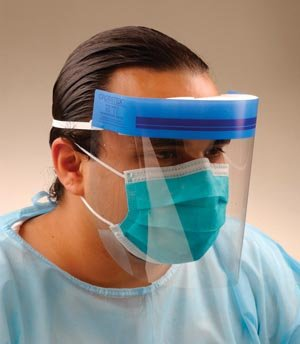 Crosstex GCSS Face Shield with Elastic Headband, Clear (Pack of 24)