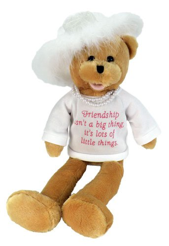 "Chantilly Lane Pearl's Wisdom 19"" T-Shirt Sings That's What Friends are for (White) from Chantilly Lane"