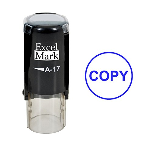 ExcelMark COPY Self-Inking Rubber Stamp (A17-Blue Ink)