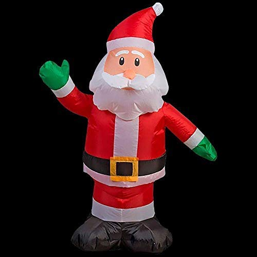 Home Accents Holiday 30.32 in. W x 17.72 in. D x 42.13 in. H Lighted Inflatable Outdoor Santa
