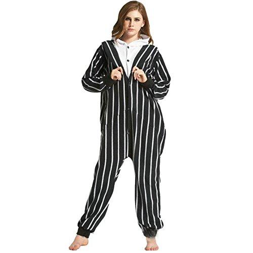 Amazon.com: Duolaimi Adult Unisex Halloween Jack Skeleton Costumes Onesies Outfit Pajamas: Clothing
