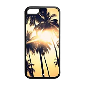 MMZ DIY PHONE CASEBeach Ocean Palm Tree Custom Protective Hard Back Cover Case For iphone 6 plus 5.5 inch