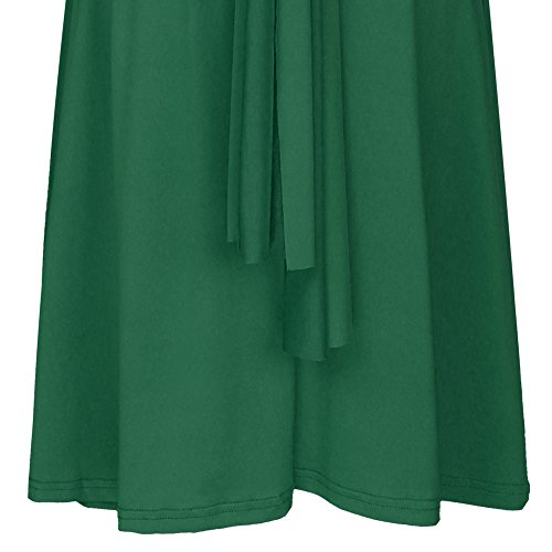 Maxi Fiesta Multi de Boho de de de Vestido Verde Dresses Sin Coctel de Corto Way Honor Rodilla Mujer Transformer Dama Mangas de Respaldo sin Elegante Infinity Vestidos Noche Cóctel 65HWBqHx