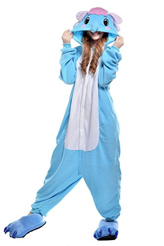 Halloween Costumes Adults Onesie Kigurumi Pajamas Cosplay Costumes Elephant (S, blue)