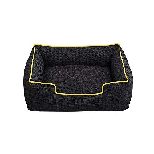 DBolomm Puppy Pet Bed Fit Medium Sized Dog Fat Cat Washable Ultra Soft Cozy Warm Pet Sofa (Yellow,M)