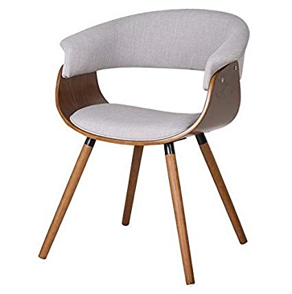 Amazon.com: Hebel Mid Century Side Chair with Wood Legs ...