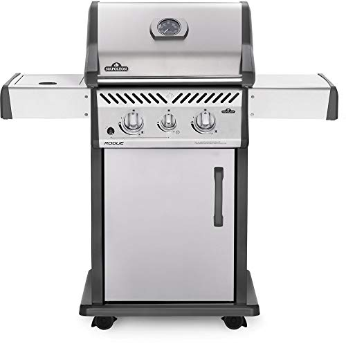 (Napoleon Rogue 365 Propane Gas Grill with Range Side Burner - R365SBPSS)