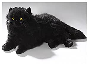 Peluche - Gato persa negro (felpa, 35cm)
