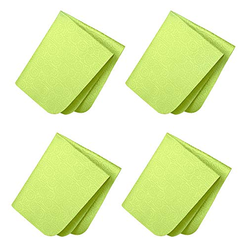 SURBUID Microfiber Cleaning Cloth for Electronics - Eyeglasses, Cell Phones, Tablets, LCD TV Screens and Laptop, Camera Lenses, Watches, Car GPS, Spectacles, Glasses, Monitor, Tablet 4-Pack (Green)