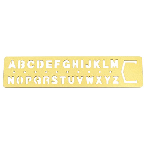 Lychee Brass Number Letters Template Ruler Drafting Drawing Stencil Craft Tool