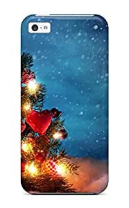 New Style Case Cover SVuamND26hNuaw Attractive Christmas Tree Art Compatible With Iphone 5c Protection Case