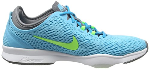 Nike Frauen Zoom Fit Cross Trainer Clrwtr / Flsh Lm / Cl Gr / Weiß