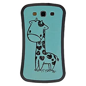 Lovely Giraffe TPU Silicone Gel Back Cover Case for Samsung Galaxy S3 I9300 , Pink