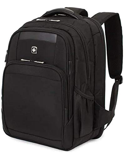 SWISSGEAR 6392 ScanSmart Ultra Premium Large Padded Laptop TSA Friendly Backpack – Black on Black