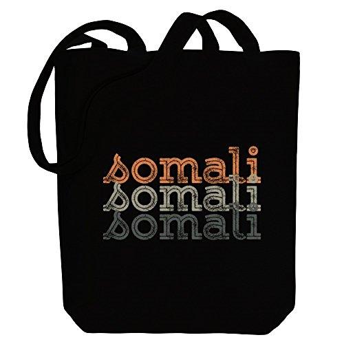 Tote Somali Canvas Languages retro repeat Idakoos Idakoos Bag Somali qxP0R0