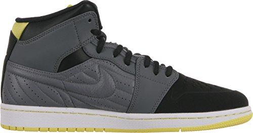 Jordan Mens Air Jordan 1 Retro 99 Cool Grigio / Nero / Bianco / Giallo Vivace 654140-032 14