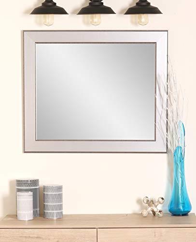 (BrandtWorks BM012M2 Mod Euro Silver Wall Mirror, 32 x 36,)