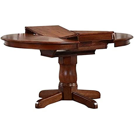 Iconic Furniture Round Dining Table 42 X 42 X 60 Cinnamon Finish