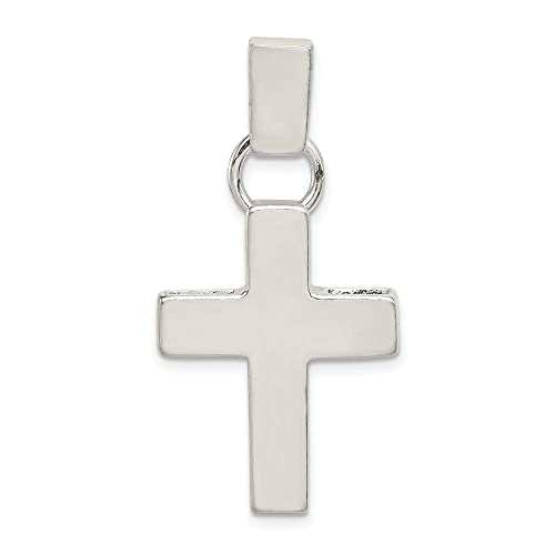 Best Quality Free Gift Box Sterling Silver Hammered Latin Cross Pendant