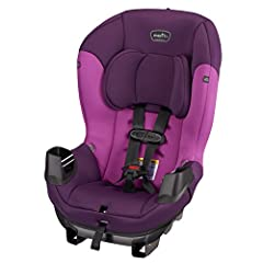 Keep your growing child safe and comfortable in Evenflo's Sonus convertible car seat. With a rear-facing weight rating up to 40 pounds and a forward-facing weight rating up to 50 pounds. your child can remain harnessed longer. For added comfo...