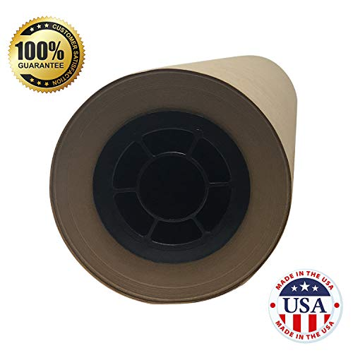 "Brown Butcher Kraft Paper Roll - 24 "" x 175' (2100"") Food Wrapping Paper for Beef Briskets - USA Made - All Natural FDA Approved Food Grade BBQ Meat Smoking Paper - Unbleached Unwaxed Uncoated Sheet by tenderlicious (Image #1)"