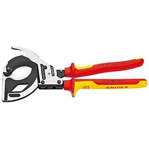 KNIPEX(クニペックス)9536-320 絶縁ラチェットケーブルカッター スポーツ レジャー DIY 工具 カッター top1-ds-1849416-ak [簡易パッケージ品] B071DCHZ5P