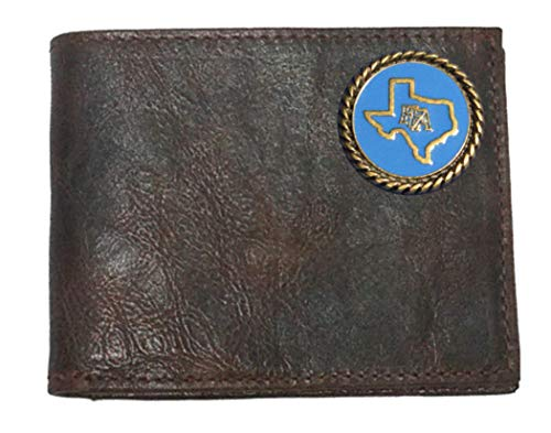 with made USA Bi Flip Chocolate ID Wallet in Leather fold the Proudly Harness Texas Custom FFA fAw778