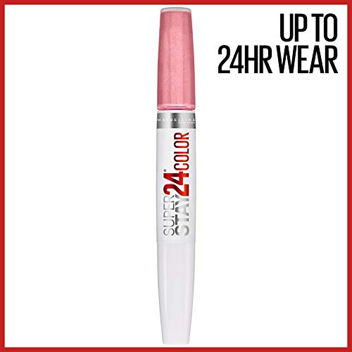 MAYBELLINE SuperStay 24 2-Step Liquid Lipstick Makeup, So Pearly Pink, 1 kit