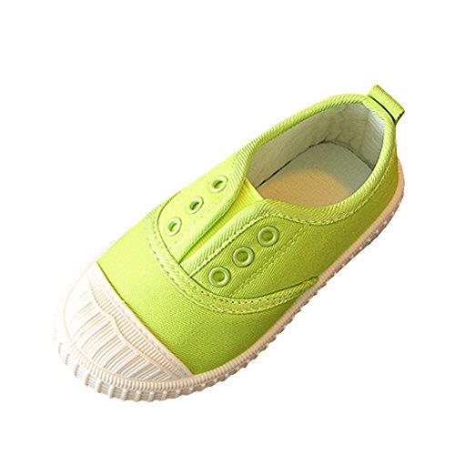 OCHENTA Kinder Mädchen Jungen Sneaker Turnschuh Sportschuhe Schnürsenkel Freizeit Grün
