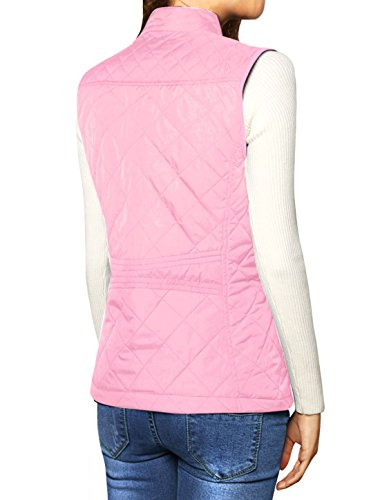 Gilet Quilted K Stand Collar Vest Allegra Women's Pink Lightweight Zip 7gXYYfw