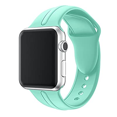 Band for Apple Watch Series 3 Bands, Soft Silicone Replacement Sports Strap + Watch Lugs for iWatch 38mm/42mm 2017 series 3 / 2 / 1