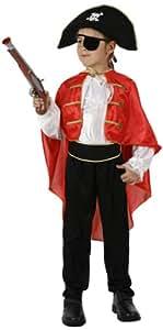 Atosa - Disfraz de capitán pirata para niño, talla 7 - 9 años (95708)