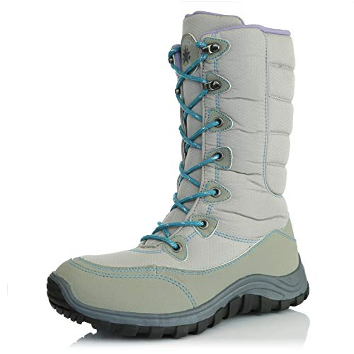 Calf DailyShoes Mid Warm Snow Women's grey Outdoor Hiking Ankle Boots Lt wZrrXIqn
