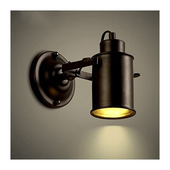 NIUYAO Spotlight Metal Cylinder Shade Mini Small Wall Sconce Wall Lamp Lighting Fixture in Black for Living Room/Bedroom/Kitchen 410538 -  - bathroom-lights, bathroom-fixtures-hardware, bathroom - 41RbrrurR4L. SS570  -