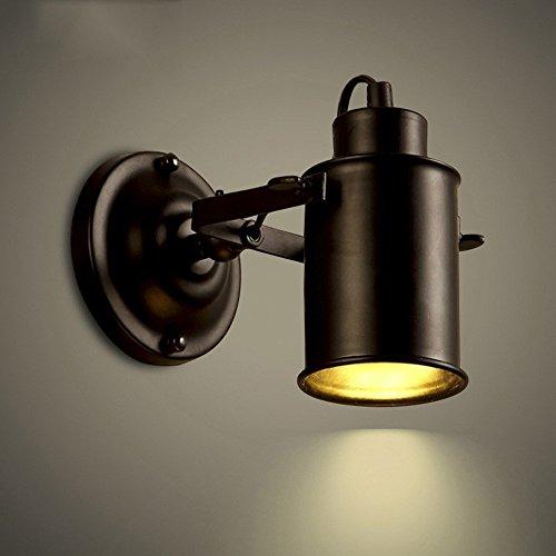 Bathroom Wall Spotlight - NIUYAO Spotlight Metal Cylinder Shade Mini Small Wall Sconce Wall Lamp Lighting Fixture in Black for Living Room/Bedroom/Kitchen