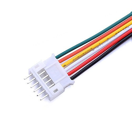 10pcs/Set Micro JST 2.0 PH 6Pin Male & Female Connector Plug with 300mm Cables by Isguin (Image #2)