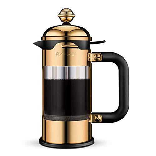 Cafetera de prensa francesa, émbolo de café con filtro, cafetera manual de acero inoxidable, para viajes, oficina en…