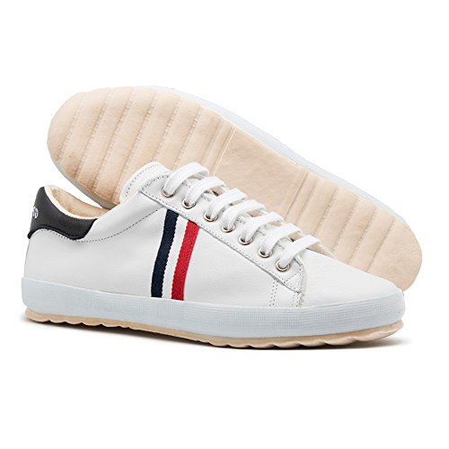 Canvas Ribbon Leather Waking M Baskets Sneaker White Chaussures homme Match mode Ganso El Ante ICFwHFq