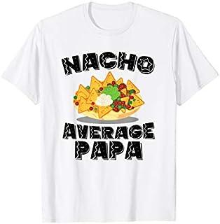 Cool gift Mens Funny Papa Tshirt Nacho Average Papa Birthday Fathers Day Women Long Sleeve Funny Shirt / Navy / S - 5XL