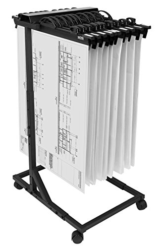 - Hang-A-Plan, Mobile Blueprint Storage Rack, Height Adjustable, Capacity for 2250 plans on 15 Clamps 18