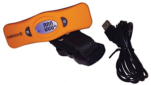 BALANZZA Digital and Mini USB Rechargable Luggage Scale with Backlight Display in ORANGE …
