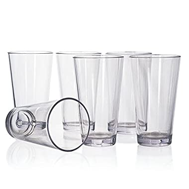 Bistro Premium Quality Plastic 20oz Water Tumbler | Set of 6