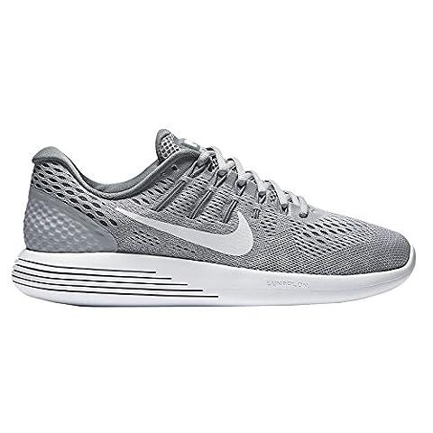 Nike Women's Lunarglide 8 Running Shoe Wolf Grey/White Cool Grey 7.5