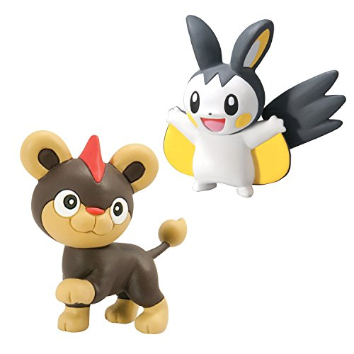 Pokémon 2 Pack Small Figures Litleo vs Emolga (Holo 2 Costumes)