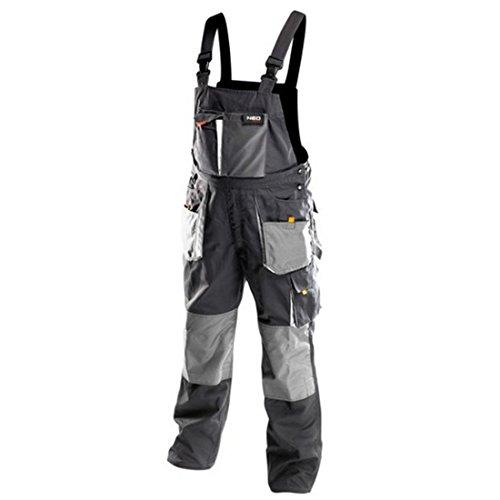 Profi Arbeitslatzhose schwarz/grau (neo), Latzhose Arbeitskleidung Arbeitshose (48.0)