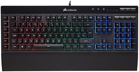 Corsair K55 RGB, Teclado Alámbrico, Estándar, USB, Interruptor de membrana, QWERTY, LED RGB, Negro