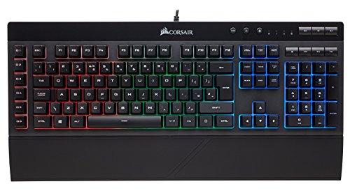 Corsair K55 RGB Membrane Gaming Keyboard (6 Programmable Mac...